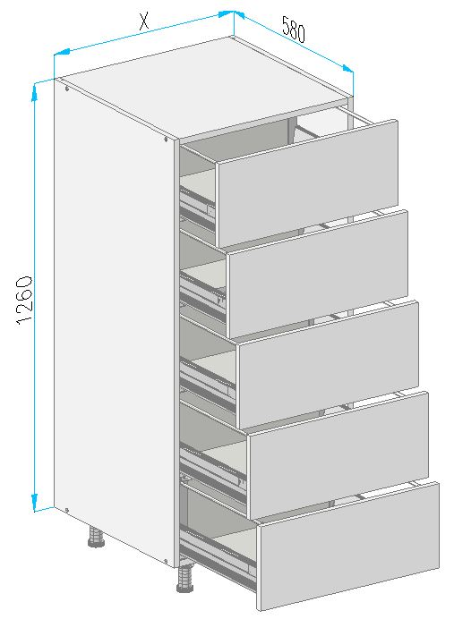 Sd33 base cabinet from the offer of kitchen cabinets for Kitchen cabinets 500mm depth