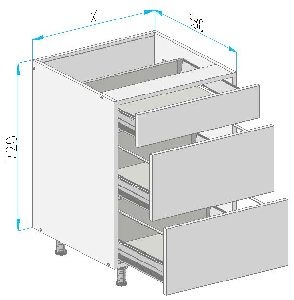 Sd9 base cabinet from the offer of kitchen cabinets for Kitchen cabinets 500mm depth