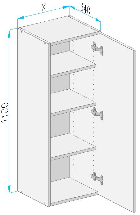 Sgl1 wall cabinet from the offer of kitchen cabinets for Kitchen cabinets 500mm depth