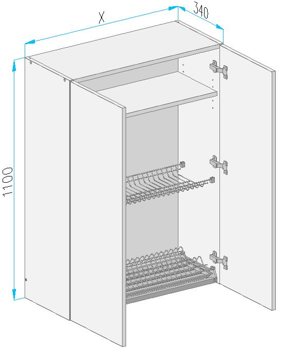 Sgl9 wall cabinet from the offer of kitchen cabinets for Kitchen cabinets 700mm