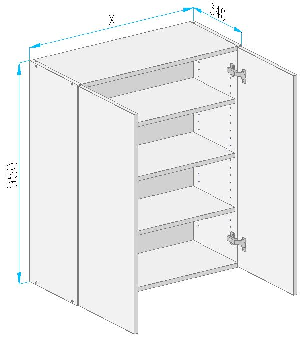 Sgm2 wall cabinet from the offer of kitchen cabinets for Kitchen cabinets 700mm