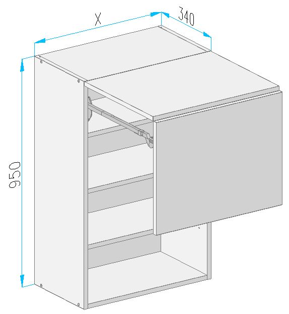 Sgm6 wall cabinet from the offer of kitchen cabinets for Kitchen cabinets 500mm depth