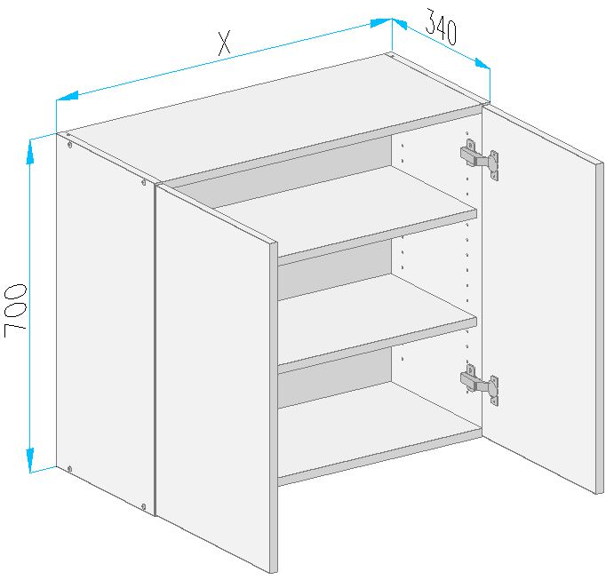Sgs2 wall cabinet from the offer of kitchen cabinets for Kitchen cabinets 700mm