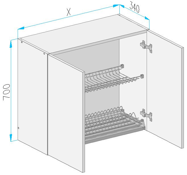 Sgs9 wall cabinet from the offer of kitchen cabinets for Kitchen cabinets 700mm