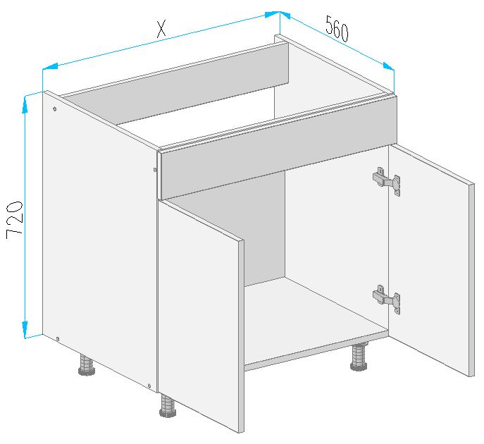 Vd20 base cabinet from the offer of kitchen cabinets for Kitchen cabinets 700mm