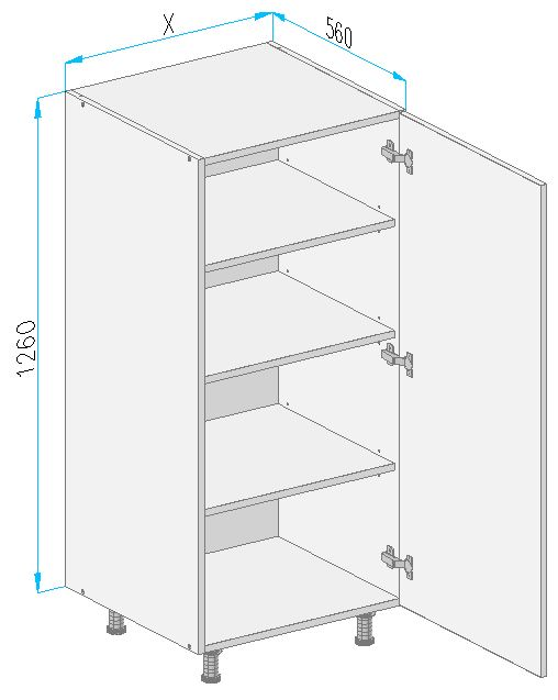 Vd32 base cabinet from the offer of kitchen cabinets for Kitchen cabinets 500mm depth
